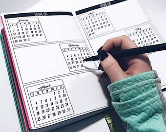 Future Log for Passion Planner, Bullet Journal Planner Stickers, Tracker Stickers
