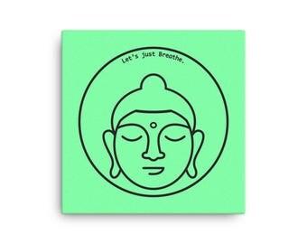 Buddha, Framed Canvas, 16″ X 16″
