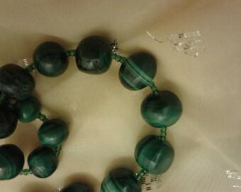 Malachite from Congo green stone necklace