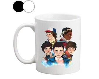 Stranger Things The Gang Coffee Mug, Stranger Things Mug, Funny Mugs with Sayings, Stranger Things The Gang Mug, Mug for Kids, Stranger Mug
