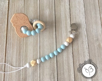 Duo clip - pacifier and teething toy
