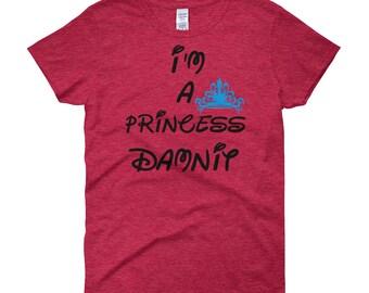 Im a Princess Damnit Blue Crown Women's short sleeve t-shirt