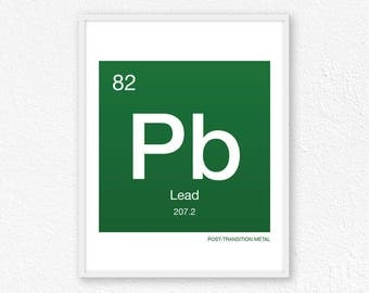 Periodic table lead etsy 82 lead periodic table element periodic table of elements science wall art urtaz Images