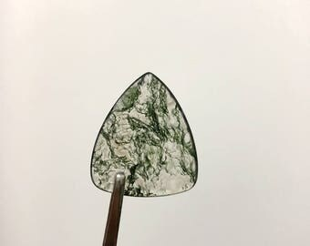 """AA Quality,Moss Agate Guitar Picks,Medium Gauge-Traditional Style Guitar Pick""""Round Tip""""Guitar Pick Made of Genuine Gem Stone Crystal,1pcs"""
