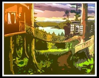 "8x10"" Treehouse Pop Art Print"
