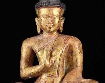 Golden Abhaya Mudra Buddha Statue
