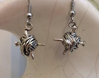Yarn Earrings