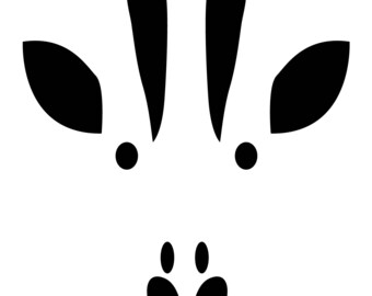 Black & White Giraffe