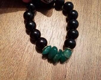 Attractive Black and Jade Stackable