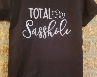 Toddler Girl Total Sasshole Black T-Shirt