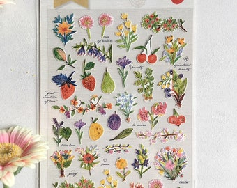 Sonia Love flower stickers to decorate calendars, diaries, diary, scrapbooking