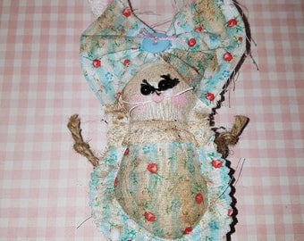 "Grungy Bunny ""Beverly"" A Rag Doll made with love"