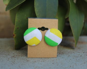 Button style earrings