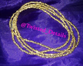 Gold Waistbeads - Single Strand