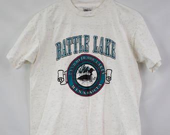 Vintage 90s Battle Lake T-Shirt Size L