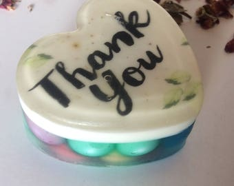 Handmade organic soap, thank you image, gift