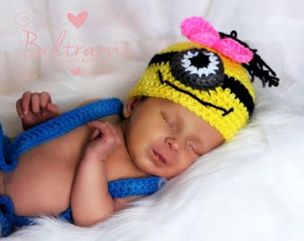 Yellow Man hat and Diaper Cover