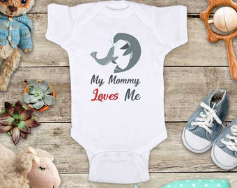My Mommy Loves Me Sea Lions - or Uncle Grandma Daddy Aunt Baby Bodysuit Shower Gift - Made in USA toddler kids youth shirt