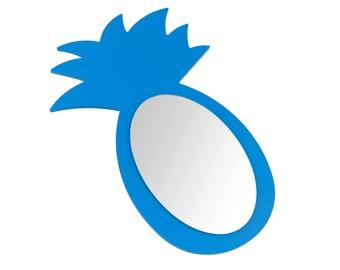 Indigo blue pineapple mirror