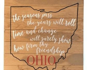Carmen Ohio | Ohio State | Wood Sign | Man Cave Decor |