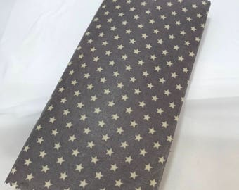 Reusable Cotton Beeswax Food Wrap Star Dark Grey Purple White Small 20cm x 20cm Eco Friendly Natural Living