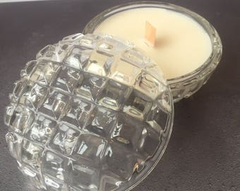Vintage Glass Candle - Juniper Berry Fragrance