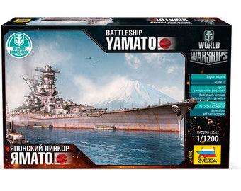 Battleship YAMATO scale 1/1200 World of Warships, zvezda, 9200