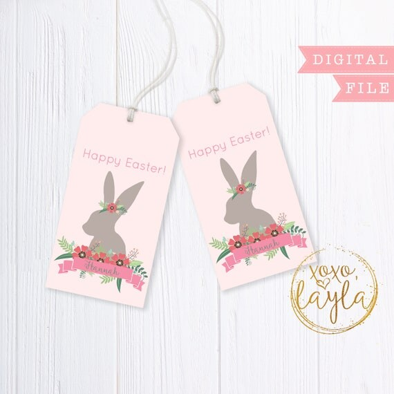 Easter tags easter tags printable easter tag pdf easter like this item negle Gallery