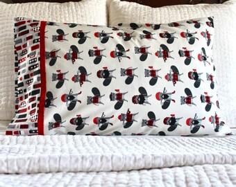 Lumberjack beaver pillowcase, beaver pillowcase, lumberjack pillowcase, handmade pillowcase, standard pillowcase, pillowcase, lumberjack