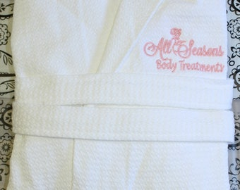 Waffle Adult Spa Robe with Logo