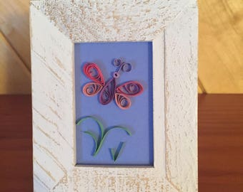 Whimsical Quilled Butterfly