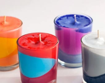 Color mazed scented candles/ The price is for each candle.