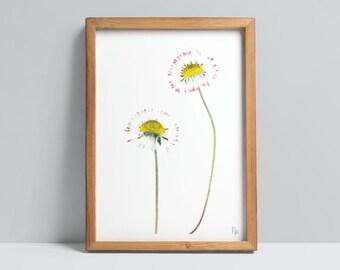 Bellis perennis / Daisy Fine Art Print