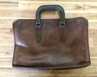 Vintage COACH brown leather briefcase