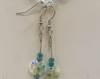 Clear Floral Earring