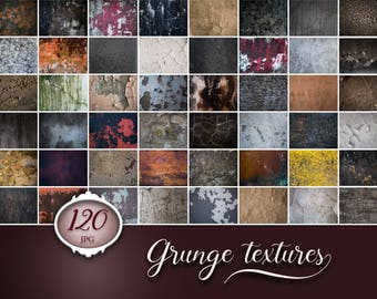 120 grunge cracks textures, cracked wall, grunge background, dark texture, photoshop overlay, digital download, bundle, rust, old wall