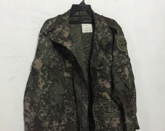 Army uniform camouflage jacket