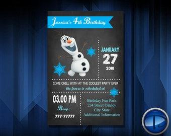 OLAF FROZEN INVITATION - Personalized Invitation - Custom Birthday - Printables Invitation - Digital file Download