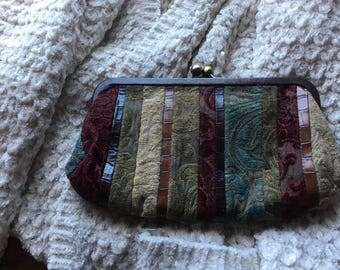Vintage Fossil Purse Clutch