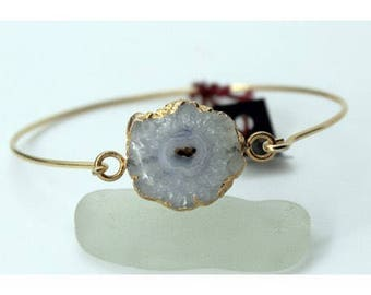 Agate quartz with Stainless Steel Bracelet
