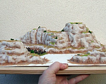 6mm to 28mm - Escarpment / Mountain Range (3 piece) Pro-Painted