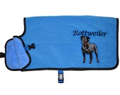 Dog Cooling Coat, cooling vest for dogs, cooler jacket, cool coat, blue, synthetic chamois, free embroidery, conformation show agility