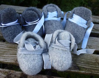 Baby Shoes Medium Grey