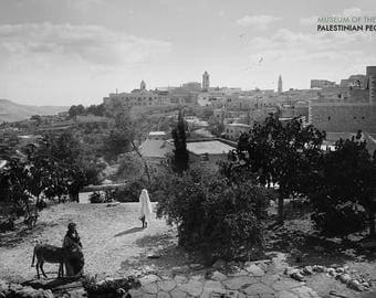 Bethlehem - Church of the Nativity on the Horizon, from the Northwest