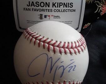 Jason Kipnis Autographed Baseball with coa