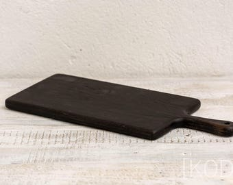 Handmade ebony like oak serving/cutting board 200 x 500 x 20 mm