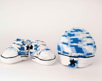 "Complete crochet pattern ""Converse"""