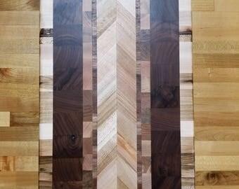 Custom walnut and maple endgrain cutting board