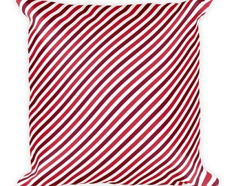 Red Straps,Square Pillow, cover w/Stuffing,USA,Printful