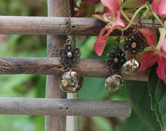 Resin handmade necklace & earring set